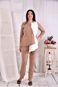 Фото Светлая нежная блузка из костюмки 0565-3 (на фото с брюками 0565-3)