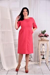 Фото Малиновое платье на каждый день 0569-3