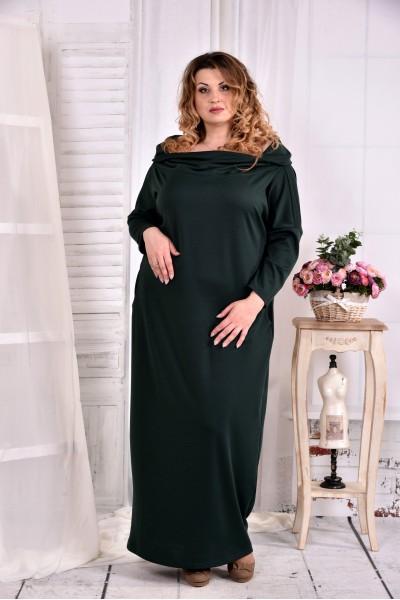 Фото Зелене трикотажна сукня в підлогу 0570-1