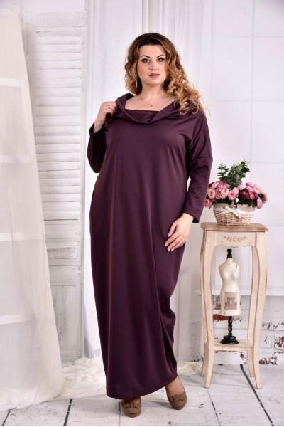 Фото Бисквитное трикотажное платье свободного кроя 0570-2