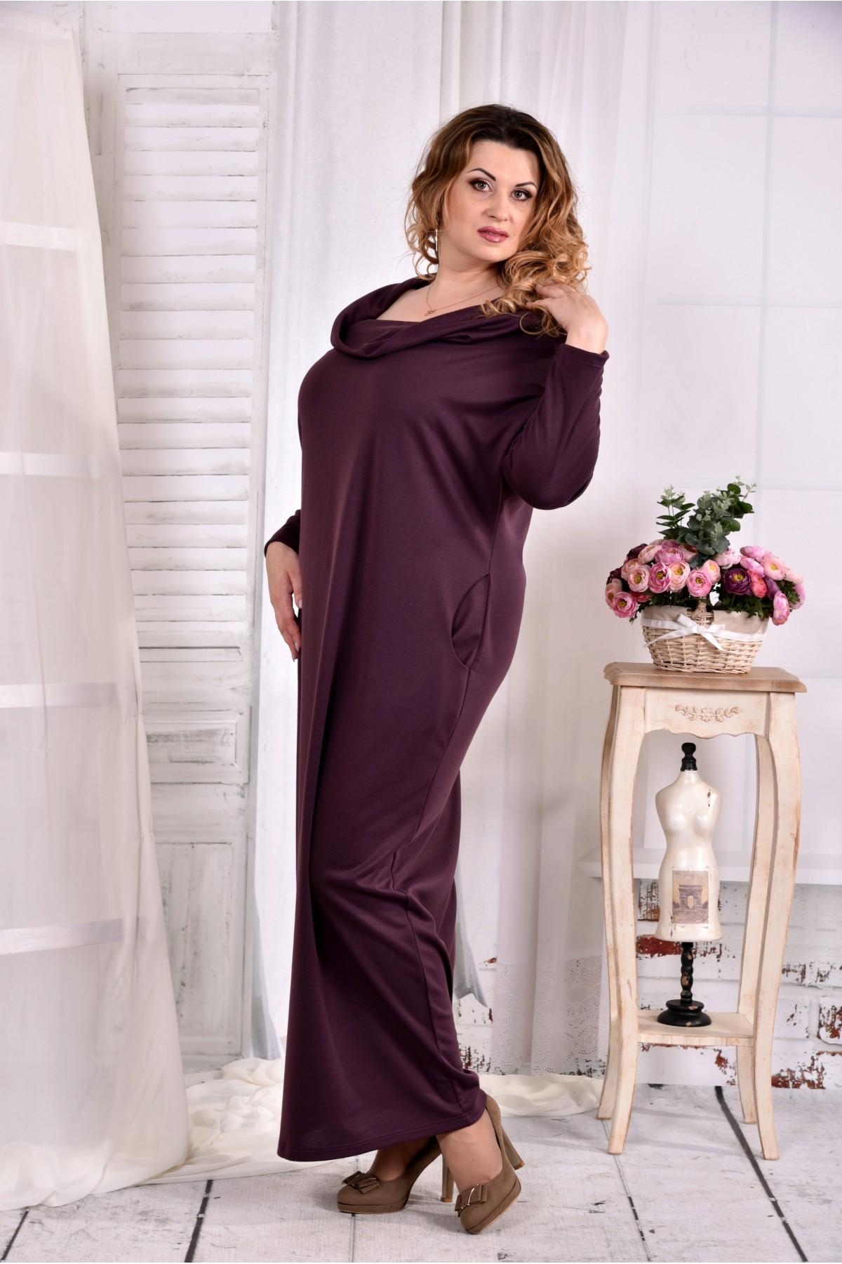 Купити Бисквитное трикотажна сукня вільного крою 0570-2 недорого від ... 520054e93e1d8