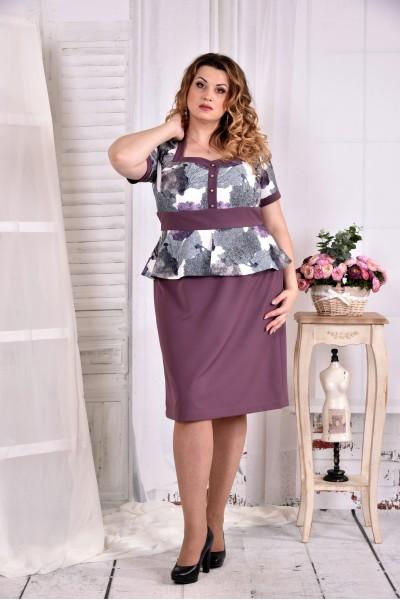 Фото Бисквитное платье с цветами 0575-1