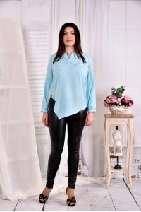 Фото Голубая нарядная блузка 0580-2 (на фото с брюками 011)