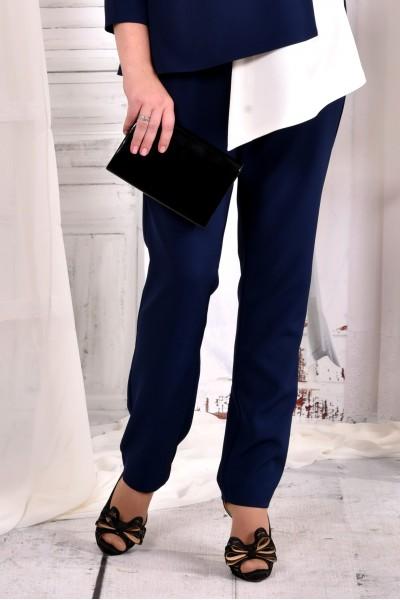 Фото Сині стильні штани 030-2 (ідеально в комлекті з блузкою 0565-2)