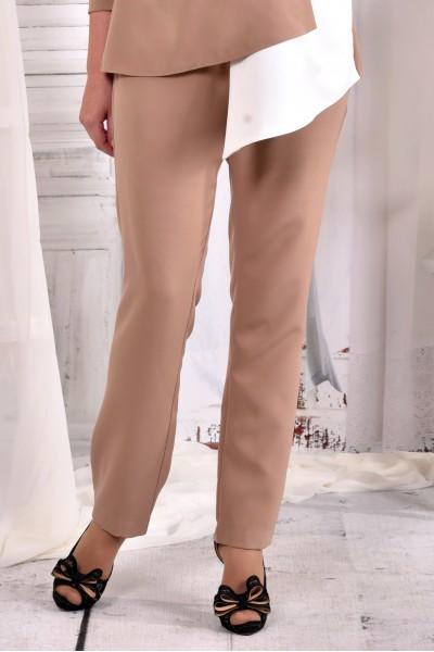 Фото Бежеві строгі офісні брюки 030-3 (чудово поєднуються з блузкою 0565-3)