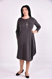 Фото Темно-серое платье из трикотажа | 0582-3