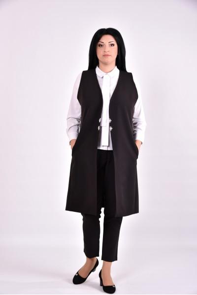 Фото Женская черная жилетка | 0586-3