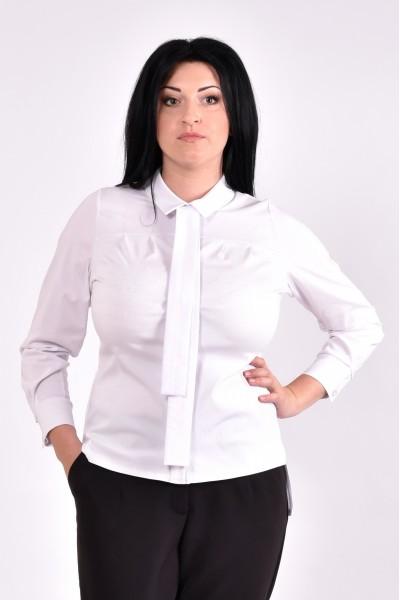 Фото Стильная белая блузка | 0587-2