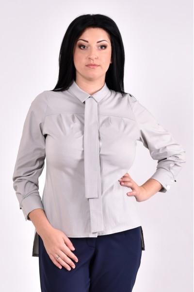 Фото Нарядная серая блуза | 0587-3