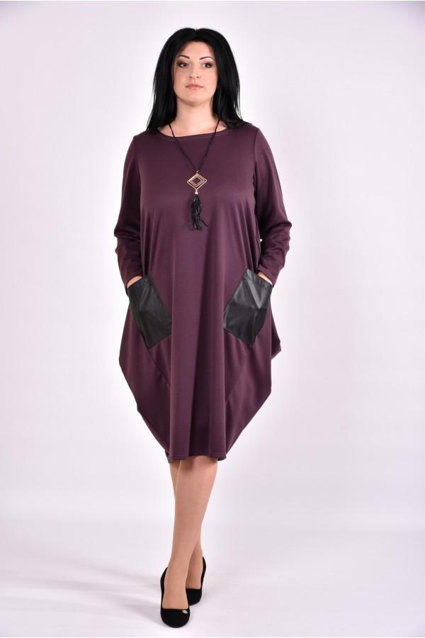 Фото Бісквітне плаття туніка з трикотажу | 0594-3