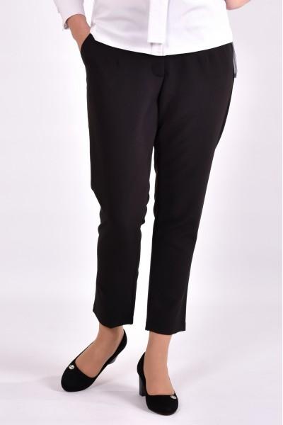 Фото Чорні укорочені брюки | 031-3