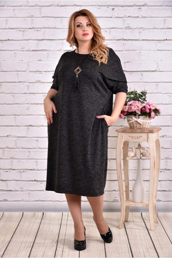 Темне плаття з ангори   0616-1
