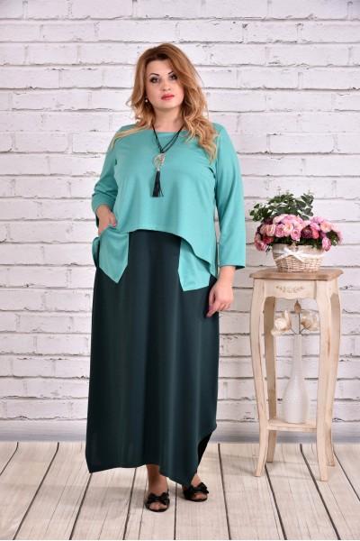 Фото Зеленое платье макси | 0623-3