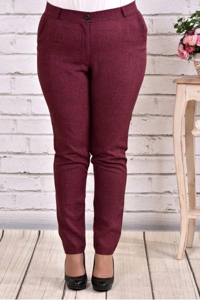 Фото Бордовые брюки | b029-3