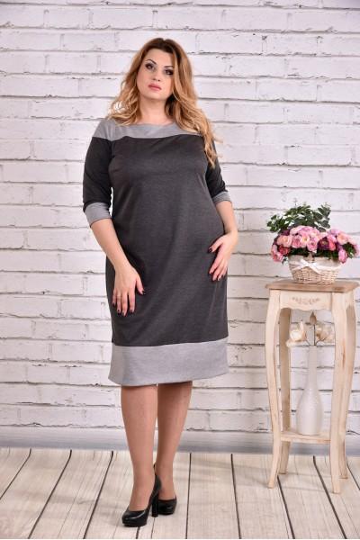 Сіре трикотажна сукня | 0626-1