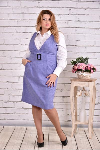 Фото Бузкове плаття | 0628-2 (блузка 0646 окремо)