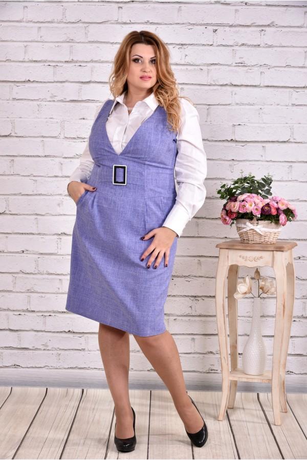 Фото Сиреневое платье | 0628-2 (блузка 0646 отдельно)