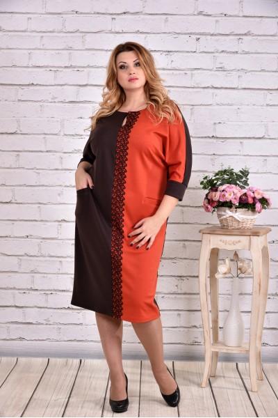 Фото Помаранчеве стройнящіх плаття | 0634-2