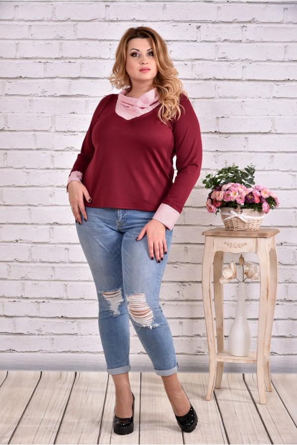 Фото Бордовая блузка | 0636-2