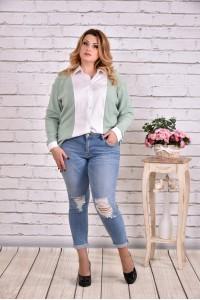 Фото Зеленая блузка-рубашка | 0637-3