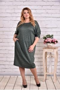 Фото Зеленое длинное платье | 0644-1