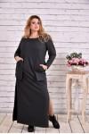 Темно-серое платье в пол | 0645-1