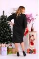 Фото Черное платье до колена из ангоры | 0649-1