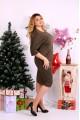 Фото Коричневое платье   0649-2
