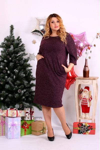 Красивое платье баклажанового цвета | 0649-3