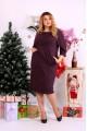 Фото Красивое платье баклажанового цвета | 0649-3