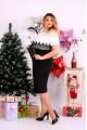 Фото Костюм платье и накидка черно-белый | 0653-1