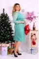 Фото Трикотажное платье с гипюром | 0662-2