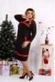 Фото Шоколадне плаття з помаранчевими вставками | 0682-1