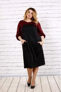 Фото Черное с красным платье | 0677-2
