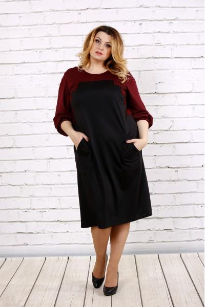 Фото Чорне з червоним плаття | 0677-2