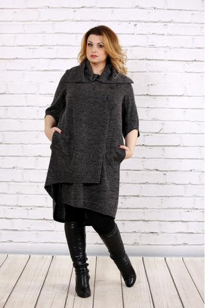 Фото Темное качественное платье из ангоры | 0687-3