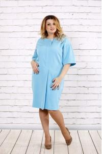 Фото Очень нежное небесно-голубое платье | 0694-2