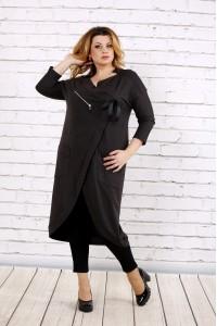 Темно-серое платье-туника | 0702-2
