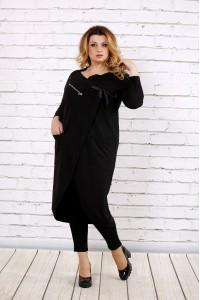 Фото Чорна блузка-туніка | 0702-3