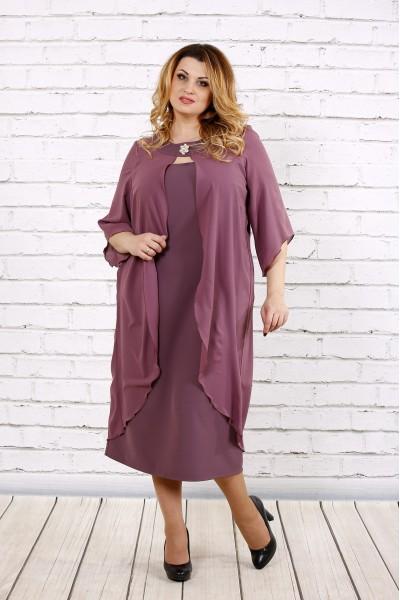 Бисквитное платье с шифоном | 0708-1