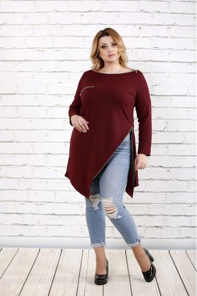 Фото Бордовая блузка - туника | 0710-3