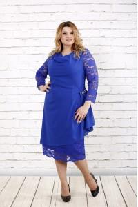 Фото Синее нарядное платье | 0715-1