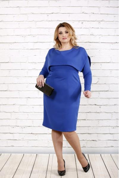 Фото Синє строге плаття | 0719-2