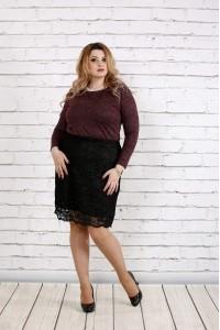 Фото Бордовая блузка из ангоры с люрексом | 0737-2