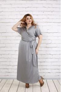 Фото Великолепное платье стального цвета | 0742-1