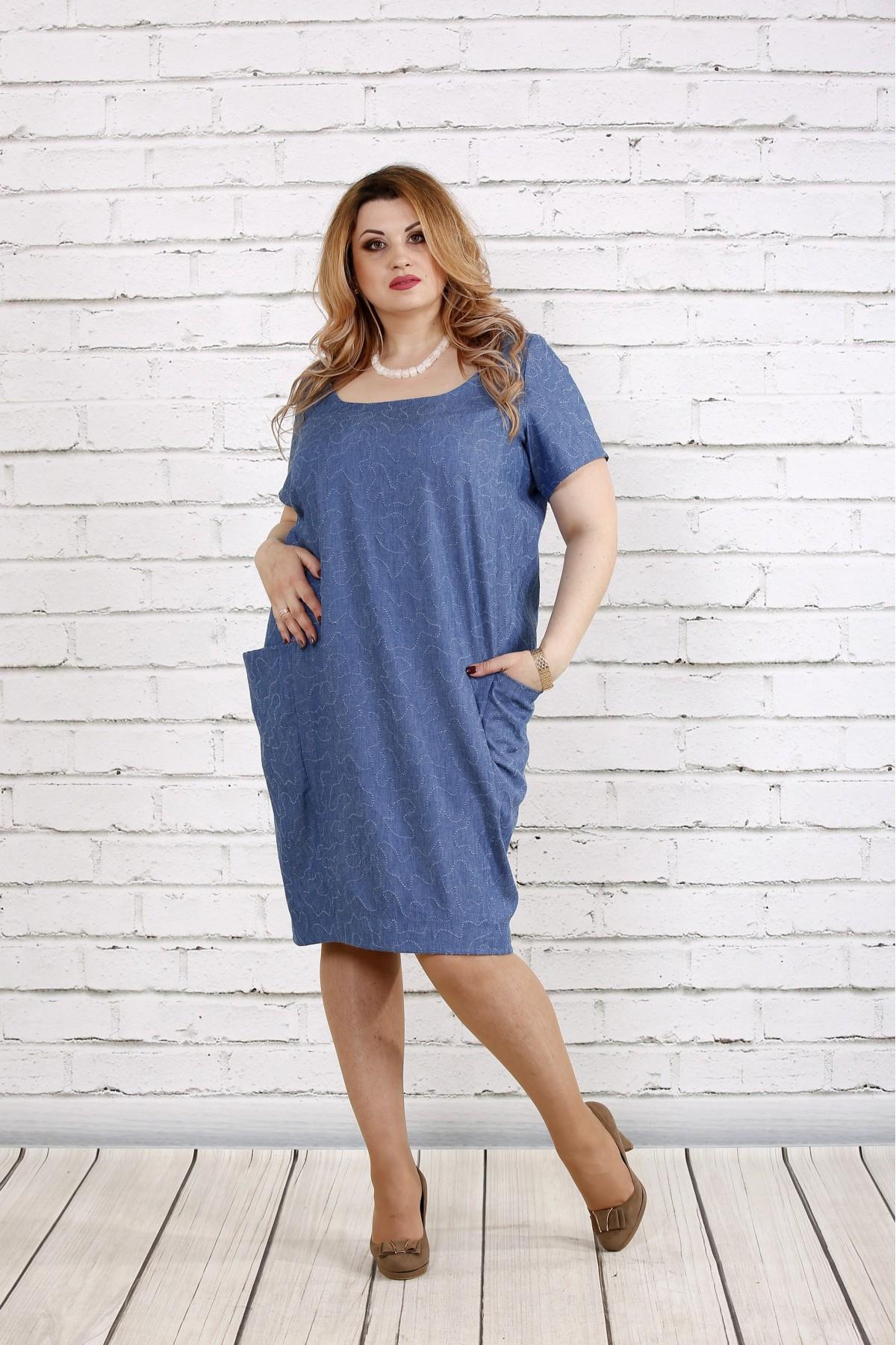 Плаття-мішок джинсового кольору купити недорого  e97a68a7c1987