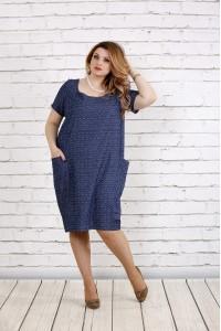 Фото Платье со штриховым узором | 0743-2