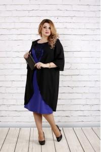 Фиолетовое платье с кружевом | 0747-3