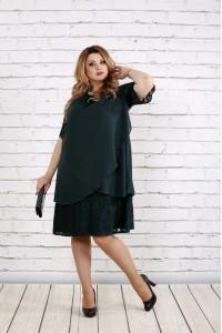 Фото Зеленое скрывающее платье | 0751-2