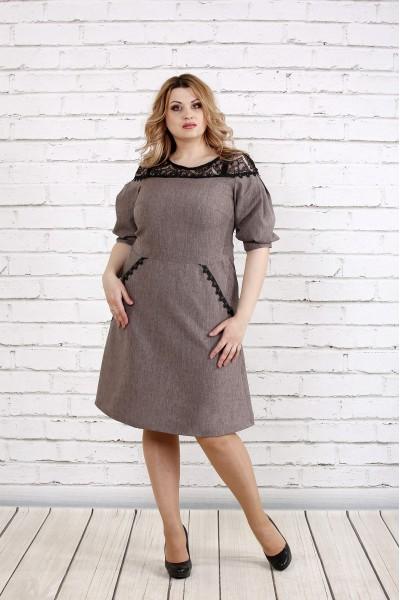 Фото сукня кольору мокко | 0773-3